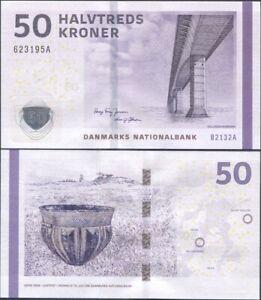 Denmark 50 Kroner 2013 UNC P-65f, B2 prefix, sign. Jensen-Sorensen