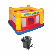 Intex Inflatable Ball Pit Bounce House & 120V Quick Fill AC Electric Air Pump