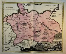 GERMANIA PTOLEMAEI Colored Engraved Map by Christoph Weigel after Ptolemy - 1718