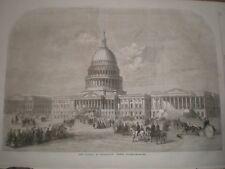 The Capitol at Washington USA 1859 print ref AU