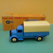 Modellino DIE CAST Dinky Toys Austin Covered Wagon 413 Blu ATLAS 1/43 Nuovo