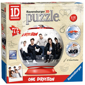 ONE DIRECTION 1D PUZZLEBALL 72 PIECE RAVENSBURGER JIGSAW PUZZLE