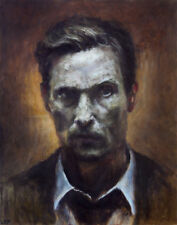 Rust Cohle True Detective ART PRINT from original oil painting 13x19in