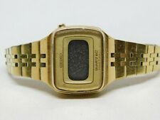 """Seiko LC L012-4009 Gold Tone Quartz Digital Ladies Watch Sz. 5 1/2"""""""