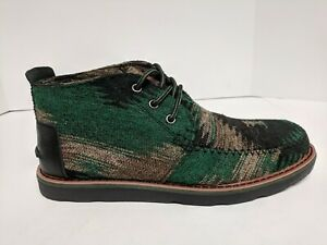 Toms Desert Chukka Lace Up Boots, Taupe Green, Mens 9 M