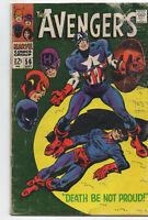 Avengers 56 Marvel 1968 VG Captain America Black Panther Hawkeye Baron Zemo