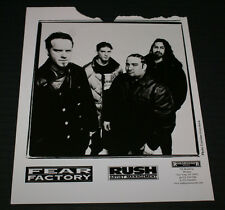 Fear Factory B&W Promo Photo 8X10 1993 Rare Htf Out Of Print