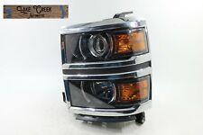 6 inch Larson Electronics 0321OXBB44G Passenger side WITH install kit 100W Halogen 2014 Chevrolet SILVERADO-RH Post mount spotlight -Chrome