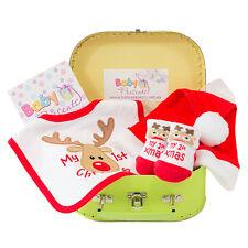 Baby First Christmas Hamper Newborn Baby Girl Boy Keepsake Suitcase Gift Idea