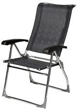 Dukdalf Aspen Folding Caravan Chair - Grey 2017 Model - 8 Position Recline -