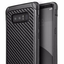 Samsung Galaxy Note 8 - Hard Hybrid Armor Impact Phone Case Black Carbon Fiber