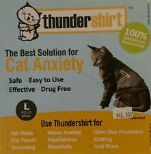 Thundershirt For Cat Anxiety Size Large Solid Gray