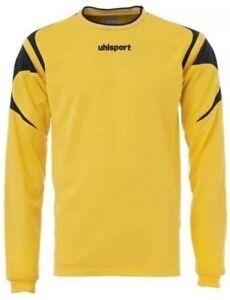 Uhlsport Leo Goal Keeper Match Training Navy XXS Boys Size Age 5-7 Years Yellow