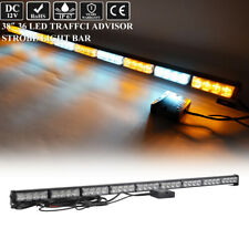 "38"" 36 Led Traffic Adviser Emergency Warning Safety Strobe Light Bar Amber White"