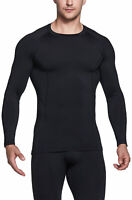 TSLA Men's Thermal Long Sleeve Compression Shirts, Athletic Base Layer Top