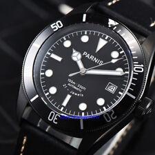 Parnis 41mm Jewels Miyota Sapphire Glass Men's 10 ATM Black PVD Automatic Watch