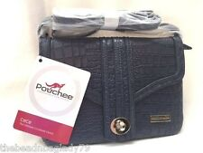 NEW POUCHEE CeCe BAG CLUTCH CROSSBODY CROCO GENTLE BLUE Ultimate Purse Organizer