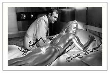 SEAN CONNERY & SHIRLEY EATON JAMES BOND GOLDFINGER SIGNED AUTOGRAPH PHOTO PRINT