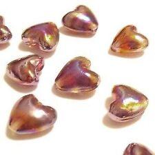 10 pieces 12mm Lampwork Glass Heart Beads - A4456