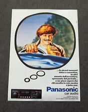 G235-Advertising Pubblicità - 1982 - PANASONIC CAR AUDIO