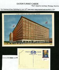 LOT 52713  EATON'S POST CARD : T EATON STORE WINNIPEG MANITOBA
