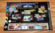 N64 Nintendo 64 Ad Flyer Mini Poster Yoshi's Island Pilotwings Killer Instinct