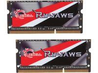 G.SKILL Ripjaws Series 16GB (2 x 8G) 204-Pin DDR3 SO-DIMM DDR3L 1600 (PC3L 12800