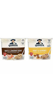 Quaker Instant Oatmeal Express Cups, Maple & Brown Sugar and Honey & Almond,12