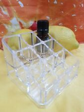 Acrylic counter-top essential oil display - storage rack holds 9 bottles