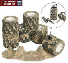 6 Rolls Self Аdhesive Camouflage Wrap Rifle Waterproof Camo Stealth Tape New