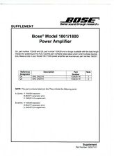 Bose Schaltplan für Model 1800 und 1801 englisch Copy