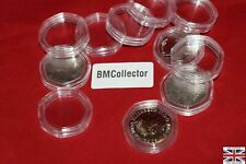 More details for 50p coin capsules heptagon 7 sidesacrilyc 50p fast shipping