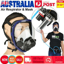 Supplied Air Fed Respirator System Full Face Gas Mask Dust Smoke Poisonous Steam