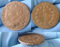 12 DENIERS LOUIS XVI 1792 A VARIÉTÉ LEOPARD SANS LA ROSE TTB/SUP FAUT COIN CASSE