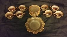 Bombay Company Coffee/Tea Cup & Saucer Brown & Gray Speckled Scroll Work
