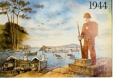POSTCARD * WEYMOUTH DORSET * 1944 D.DAY *  TAKEN FROM MURAL