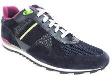Hugo Boss Men's Runcool Fashion Sneakers Dark Blue Suede & Leather Size 7 M