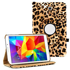 Leopard 360 Rotating Leather Case Skin Cover for Samsung GALAXY Tab 4 7 Nook
