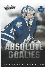 2013-14 Panini Absolute Hockey Boxing Day JONATHAN BERNIER NHL Goalies #9