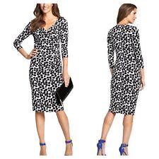 Savoir Confident Curves Size 12 Spot Print Wrap DRESS Tummy Control Party New