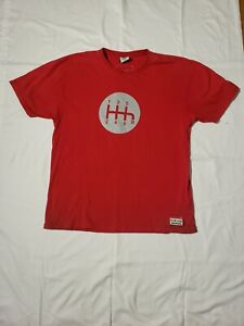 Grease Monkey Honda 6 Speed Graphic Tee Shirt Adult XXL Red HTF