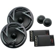 "POWER ACOUSTIK EF-60C Edge Series 6.5"" 500-Watt 2-Way Component Speaker System"