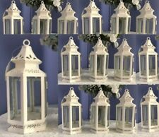 15 Victorian  Candle Holder White Small  Lantern Wedding Centerpieces - Set