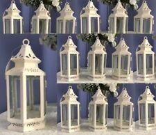 15 Victorian  Candle Holder White Small  Lantern Wedding Centerpieces - Set