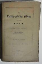 Willisen: Der Russisch- polnische Feldzug des Jahres 1831. 1868 (W.)