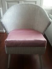 Vintage Retro Original Lloyd Loom Wicker Natural bedroom chair