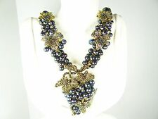 "HEIDI DAUS ""Intoxicating Elegance"" Beaded Swarovski Crystal Statement Necklace"