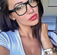 Sexy Geek Square Glossy Clear Lens WaYfe Fashion HOT Women Eyeglasses Frames M L