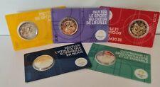 Lot 5 Versions Coincards BU 2 Euros Commémorative France 2021 Paris 2024 Olympic