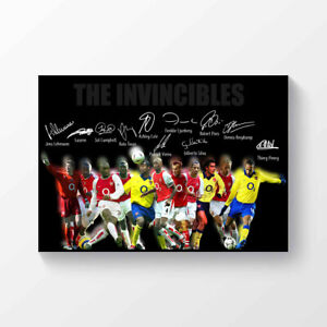 Arsenal FC Arsenal Invincibles Team Premier League Champions Signed Poster A4